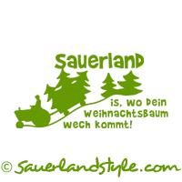 sauerland design weihnachtsbaum t shirts kapuzenpullis longsleeves f r sauerl nder m nner. Black Bedroom Furniture Sets. Home Design Ideas
